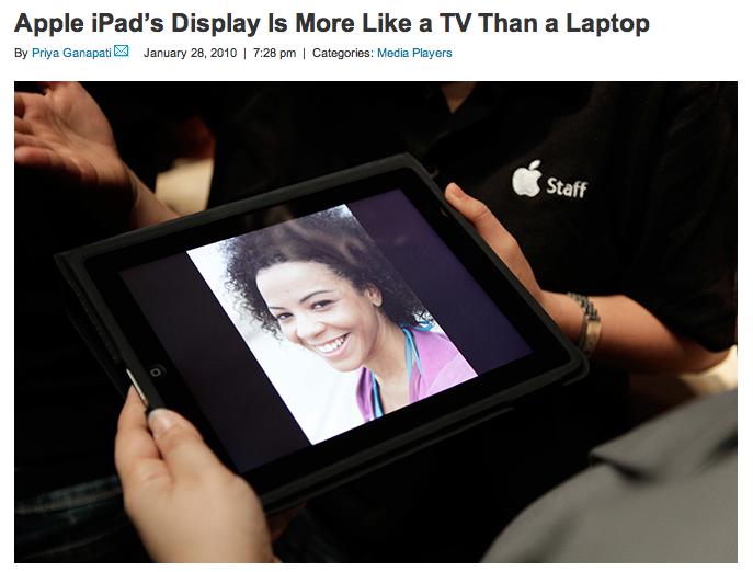 Wired iPad Display