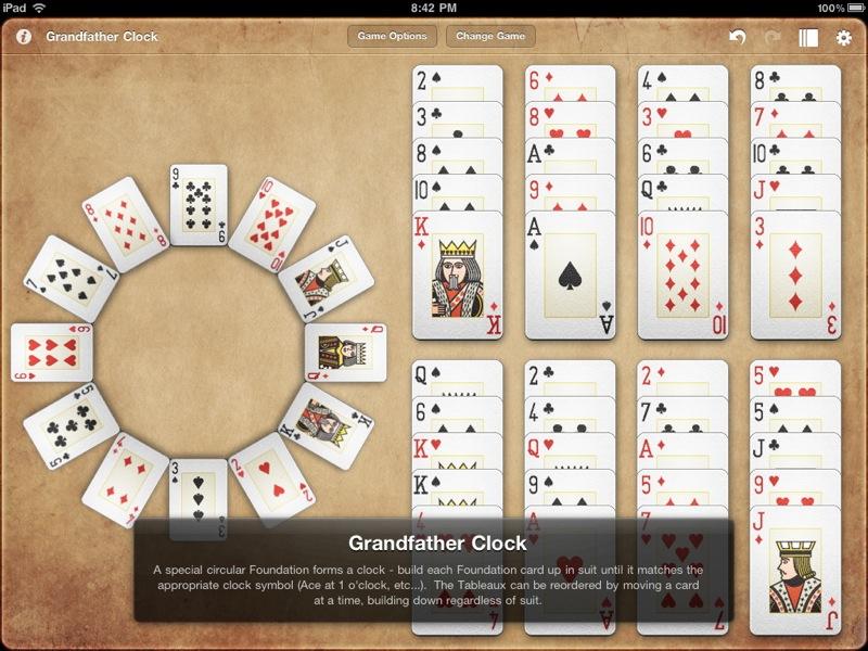 При раздаче 12 карт из колоды раздаются в виде круглого циферблата по одной на каждую позицию.