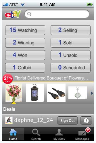 001 eBay app