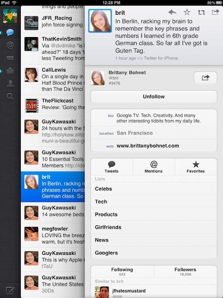 00 Twitter info on iPad