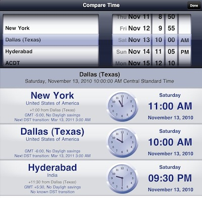 007 worldclock for iPad
