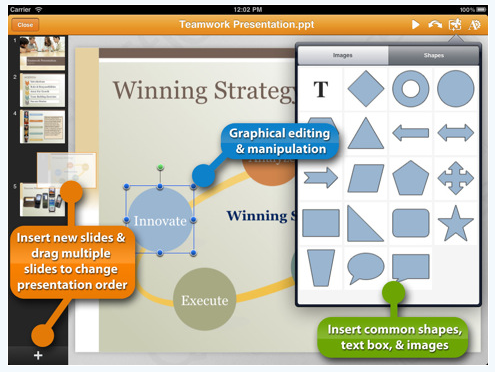 00 quickoffice powerpoint on iPad