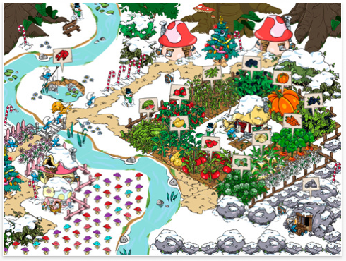 00 smurfs village for iPad