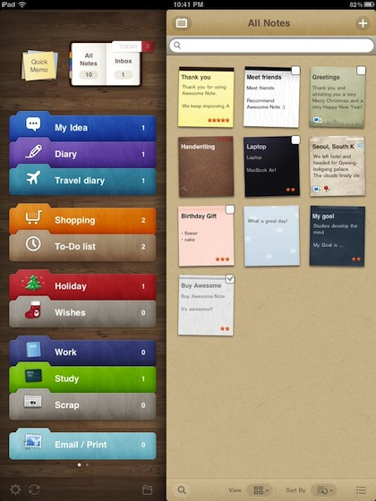 01 awesome note for iPad