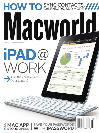 00 macworld magazine on the iPad