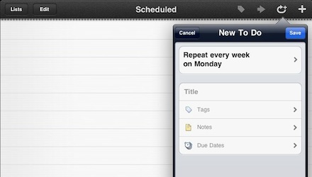 00 things repeating on iPad