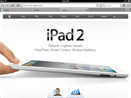 iPad Web Browser with Full Screen view and Tabs! – iGo With