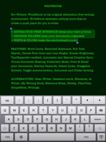 00 writeroom for iPad