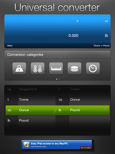 01 iPad Universal converter HD