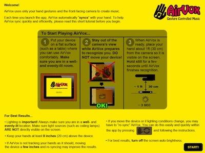 01 AirVox iPad Music Generator