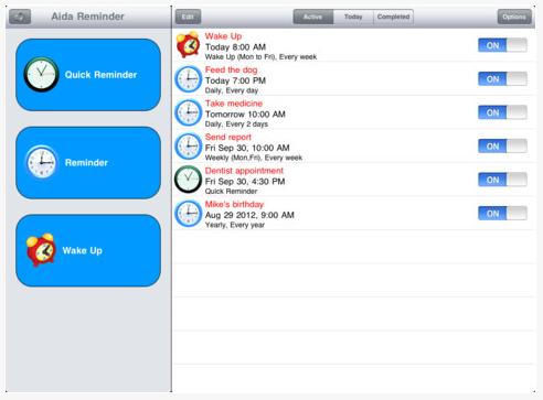 00 aida reminder on iPad
