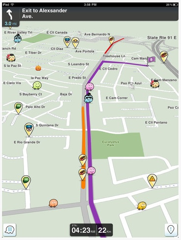 001 Waze for iPad