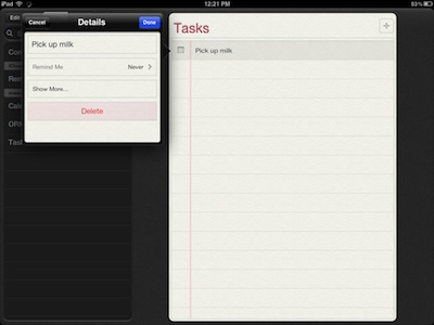 001 iPad location tasks