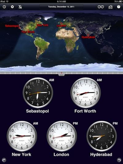 00 iPad World Clock