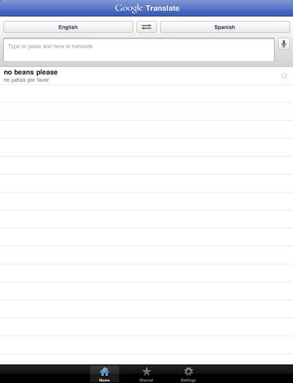 00 Google Translate iPad