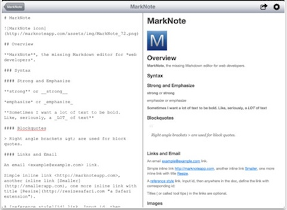1 marknote markdown iPad