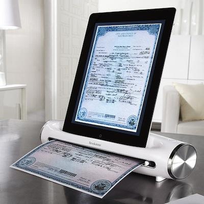 brookstone scanner ipad