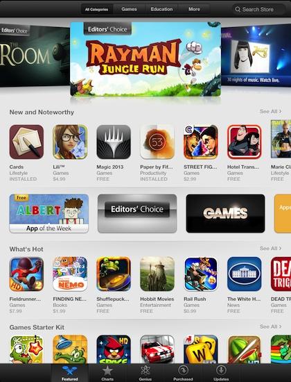 01 iTunes app iPad